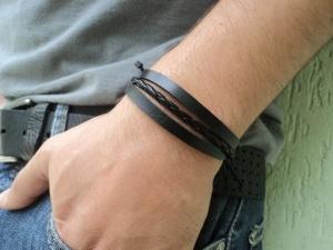 pulseira-masculina-couro-preto-bijuteria