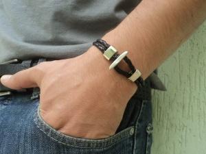 pulseira-masculina-couro-preto-fecho-t-pulseira-de-couro