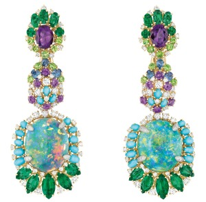 Dear-Dior-Rcsille-Bouquet-dOpales-earrings