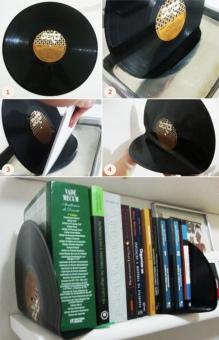 7-reciclar-discos-de-vinil-trava-livros