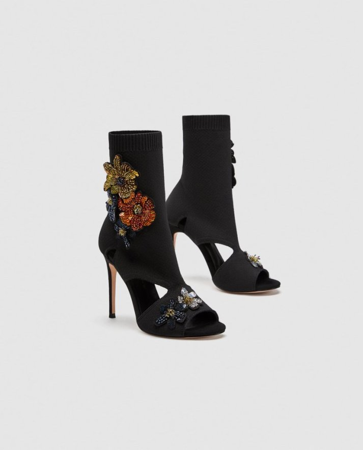 Zara-High-Heel-Sock-Sandals-Floral