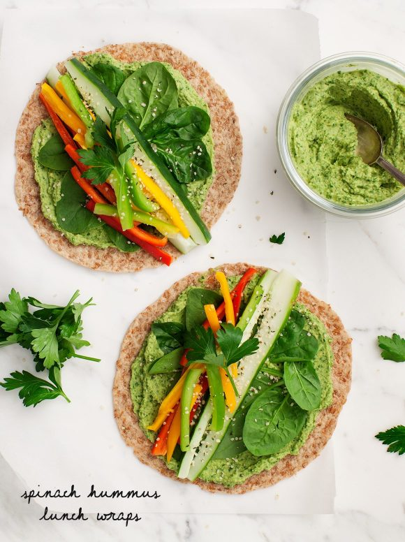 spinach-hummus-lunch-wraps