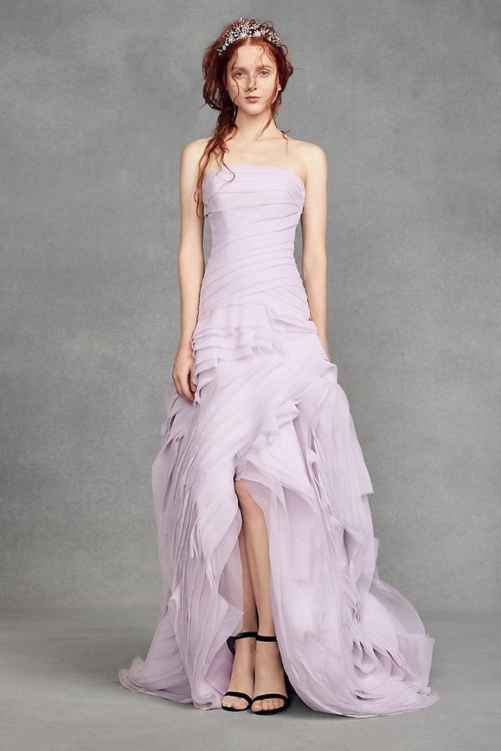 WhitebyVeraWangOrganzaHigh-LowWeddingDress,$998-$1,048