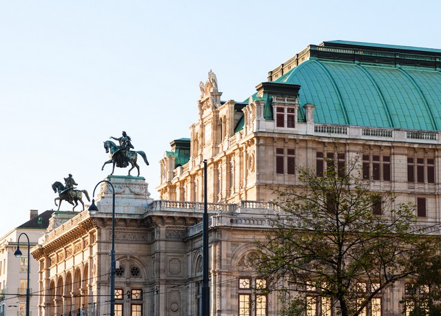 view of Vienna State Opera House from Ringstrasse