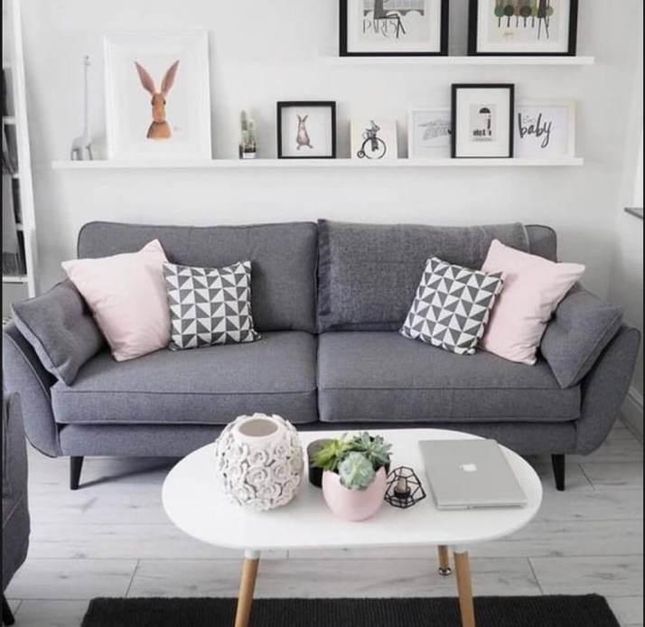 sofá-para-sala-pequena-decorada-em-tons-de-cinza-Foto-Pinterest