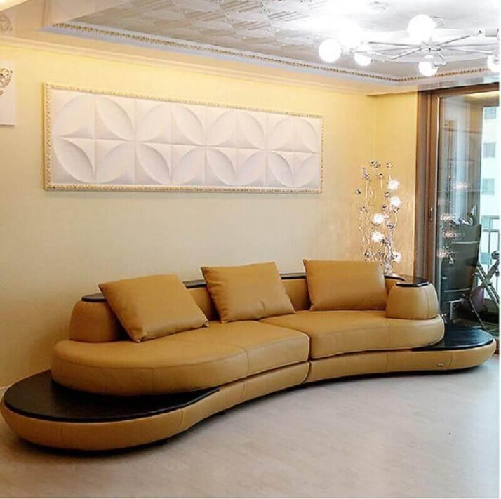 sofás-modernos-e-confortáveis-em-couro-marrom-Foto-Couches-Sofa