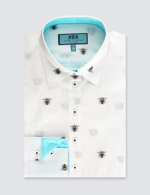 womens-white-bee-print-fitted-shirt-single-cuff-FIBFV014-N01-130047-500px-650px